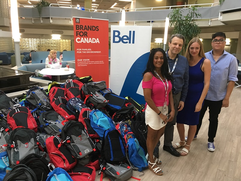 bell canada backpack drive